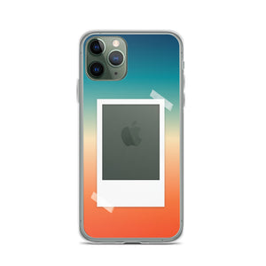 Warm Retro Vibes Gradient with Polaroid Opening iPhone Case