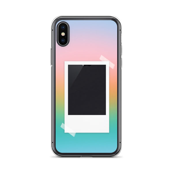 Pastel Gradient with Polaroid Opening iPhone Case
