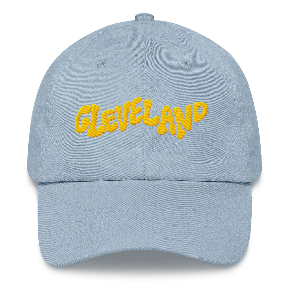 'Cleveland' Dad Hat - Yellow on Blue