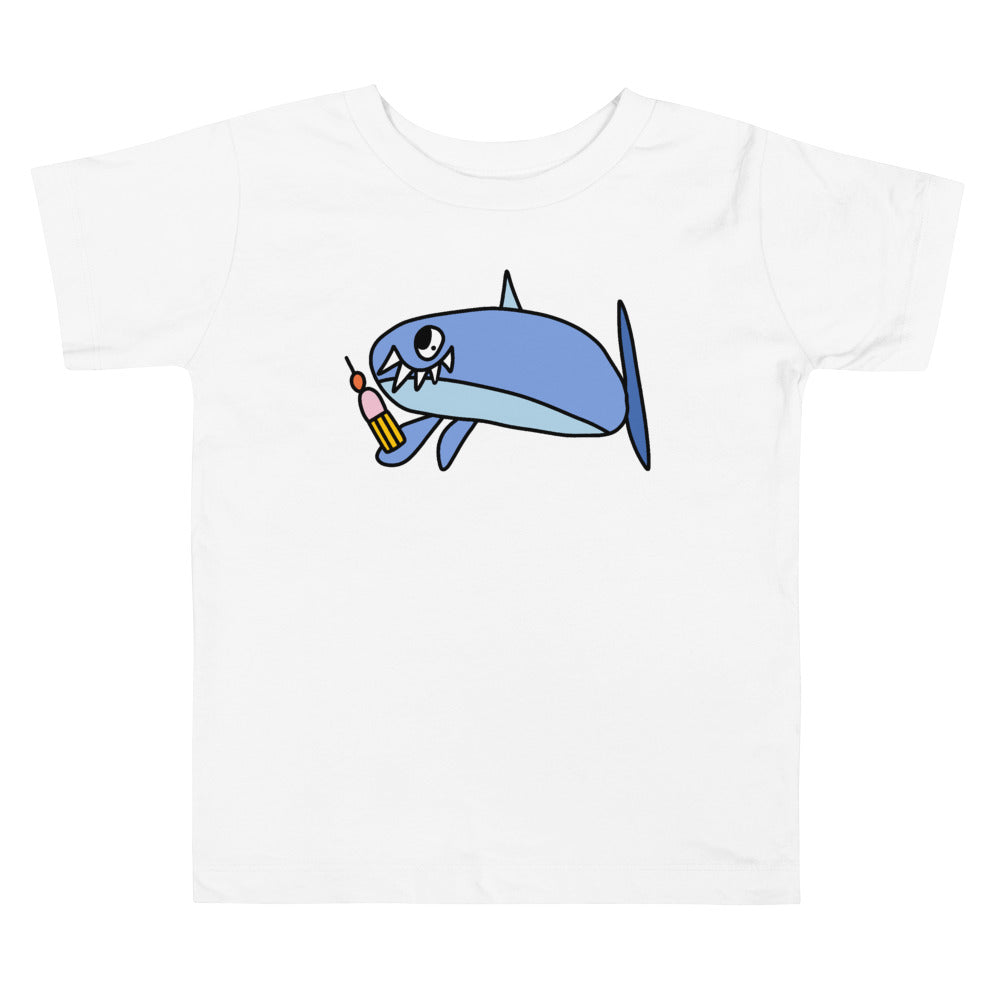 Cupcake Eating Shark by Grace - T-shirt
