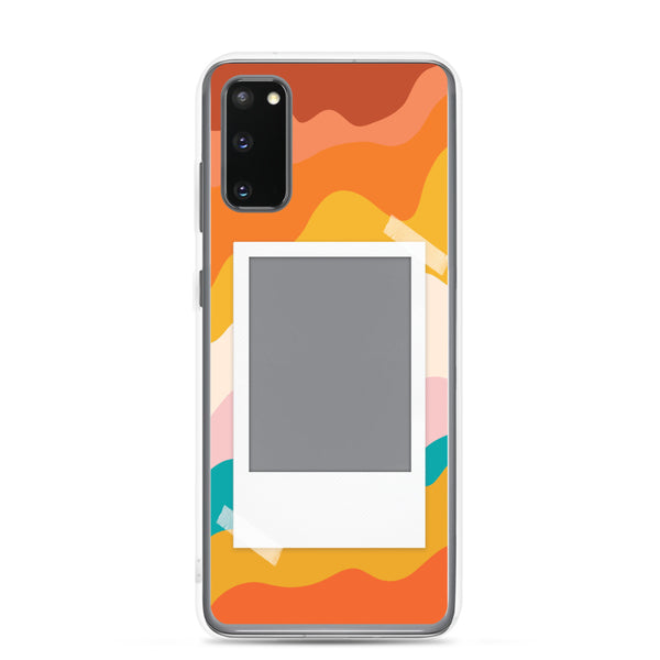 Warm Waves Phone Case with Polaroid Instax Opening