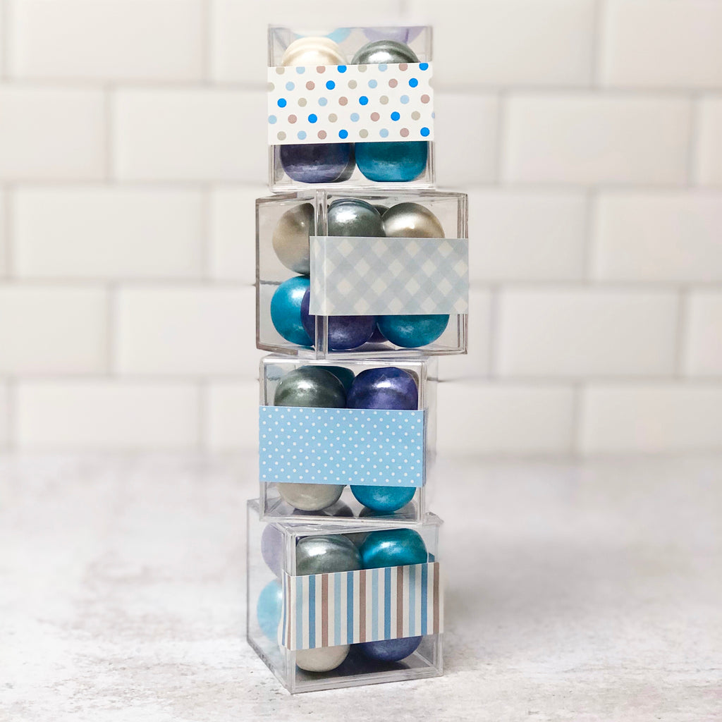 Baby Boy Small Box Favors - Set of 4