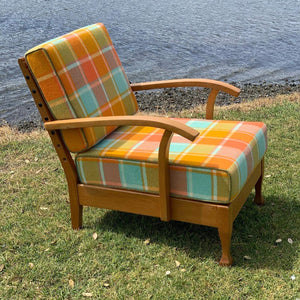 Restored woolen blanket chair