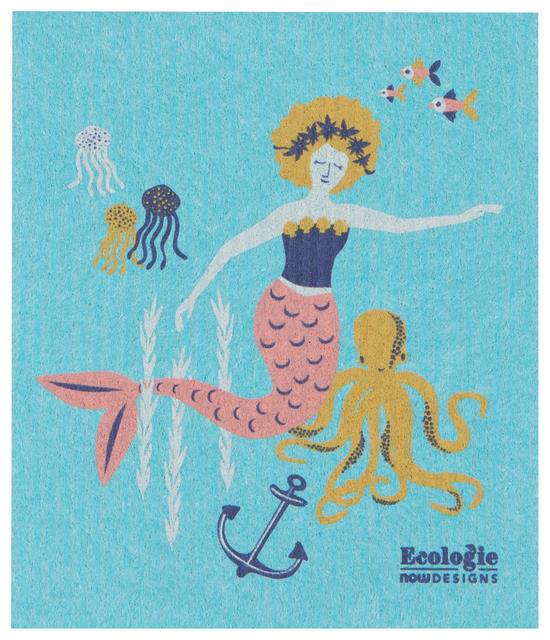 Mermaid Swedish Dishcloth