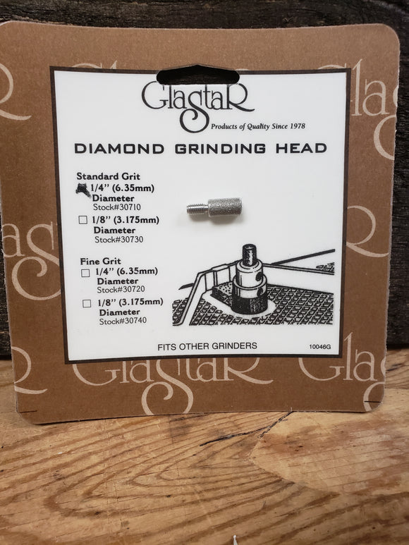 Glastar Diamond Grinding Head 1/4