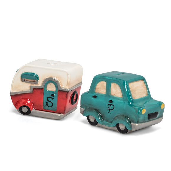 Car and Camper Salt & Pepper