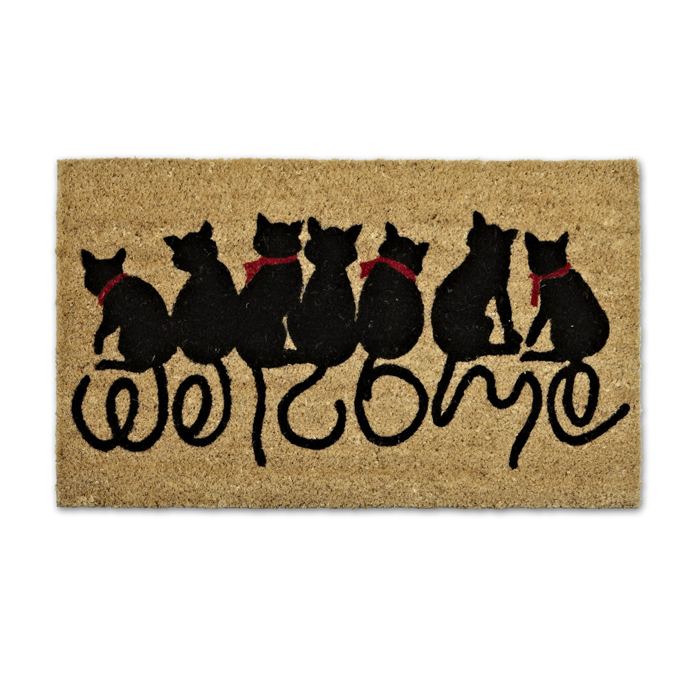 Welcome Cat Tail Doormat