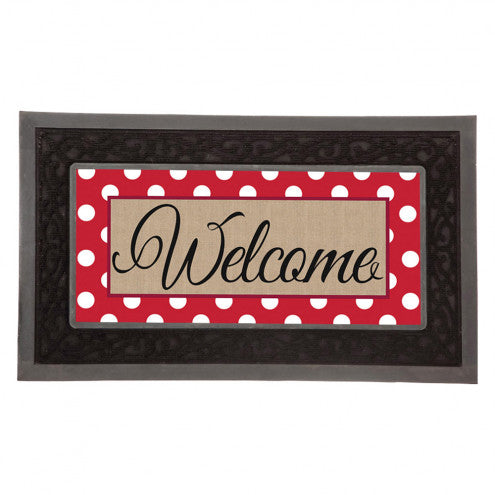 Welcome Polka Dot Switch Doormat
