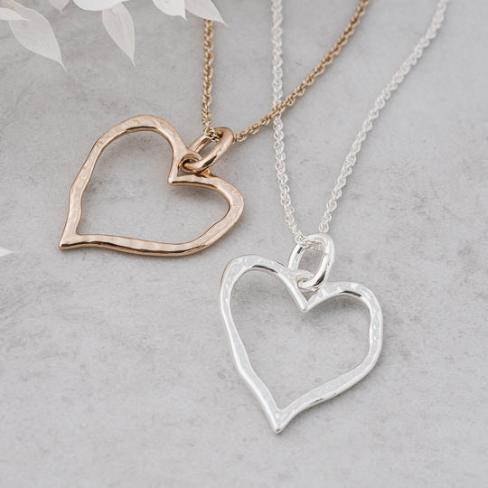 Giving Heart Necklace Silver