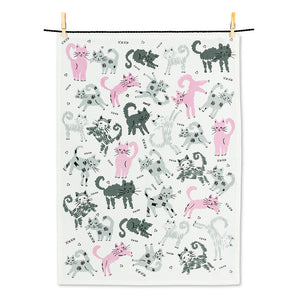 Leaping Cats Tea Towel