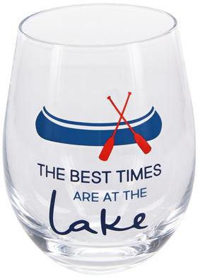 Best Times at the Lake Wine Glass
