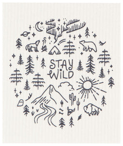 Stay Wild Swedish Dishcloth