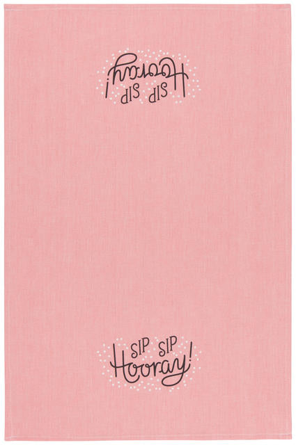 Sip Sip Hooray Tea Towel