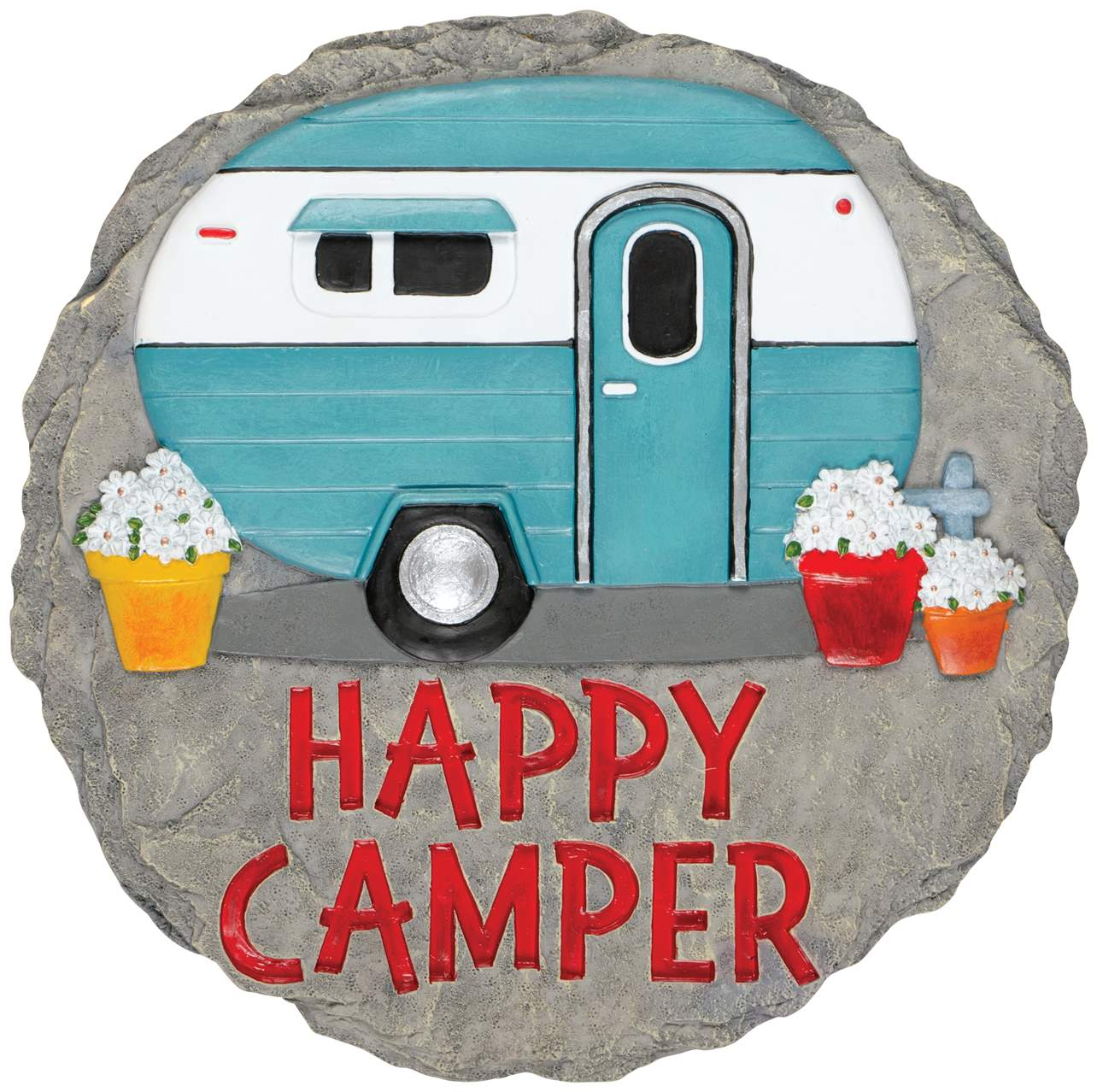 Happy Camper Stepping Stone
