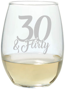 Age Stemless Wine Glass