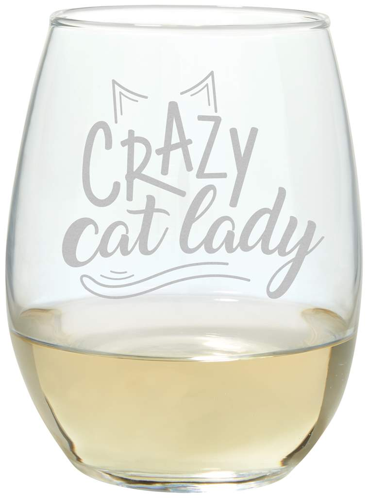Cat Lady Wine Glass