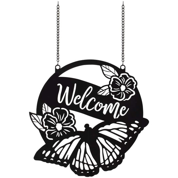 Welcome Butterfly Sign
