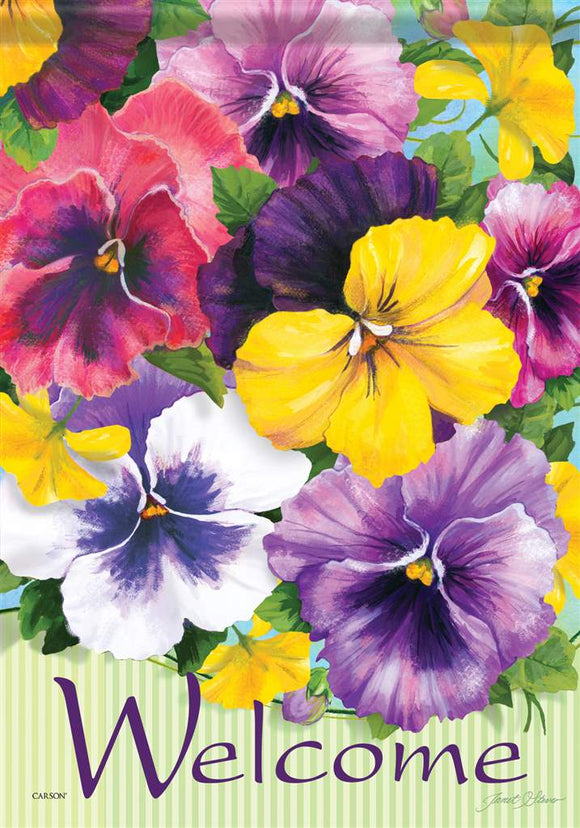 Welcome Pansy Flag