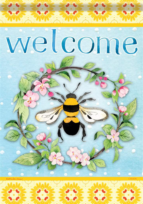 Bee Welcome Flag