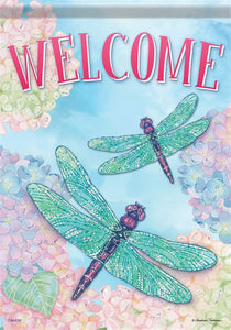 Dragonfly Welcome Flag