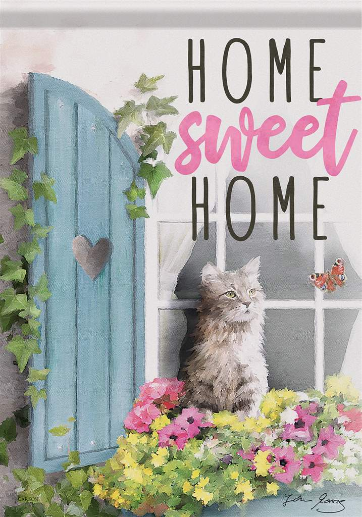 Home Sweet Home Cat Flag