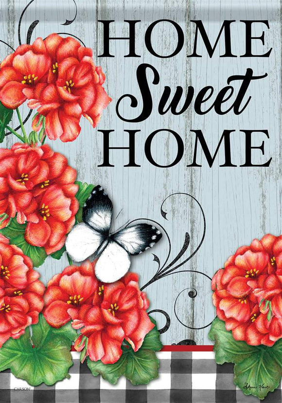 Home Sweet Home Flowers Flag
