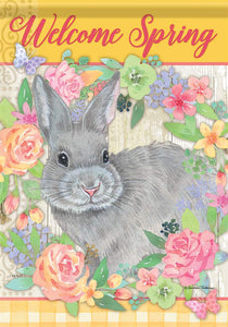 Bunny Welcome Spring Flag