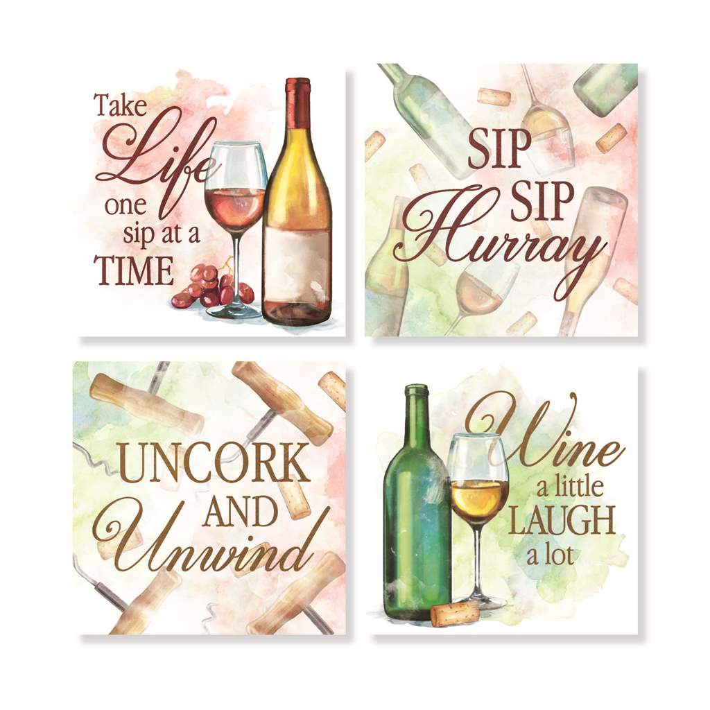 Wine themed coasters
