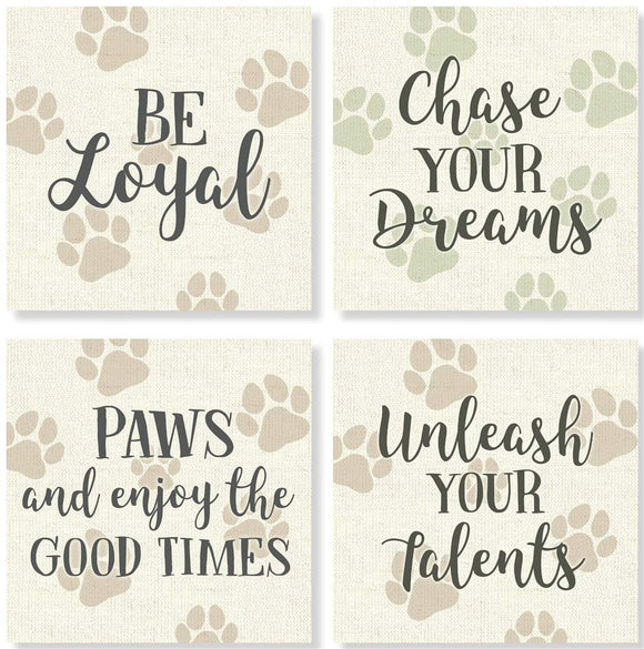 Dog Paw Print Coaster set