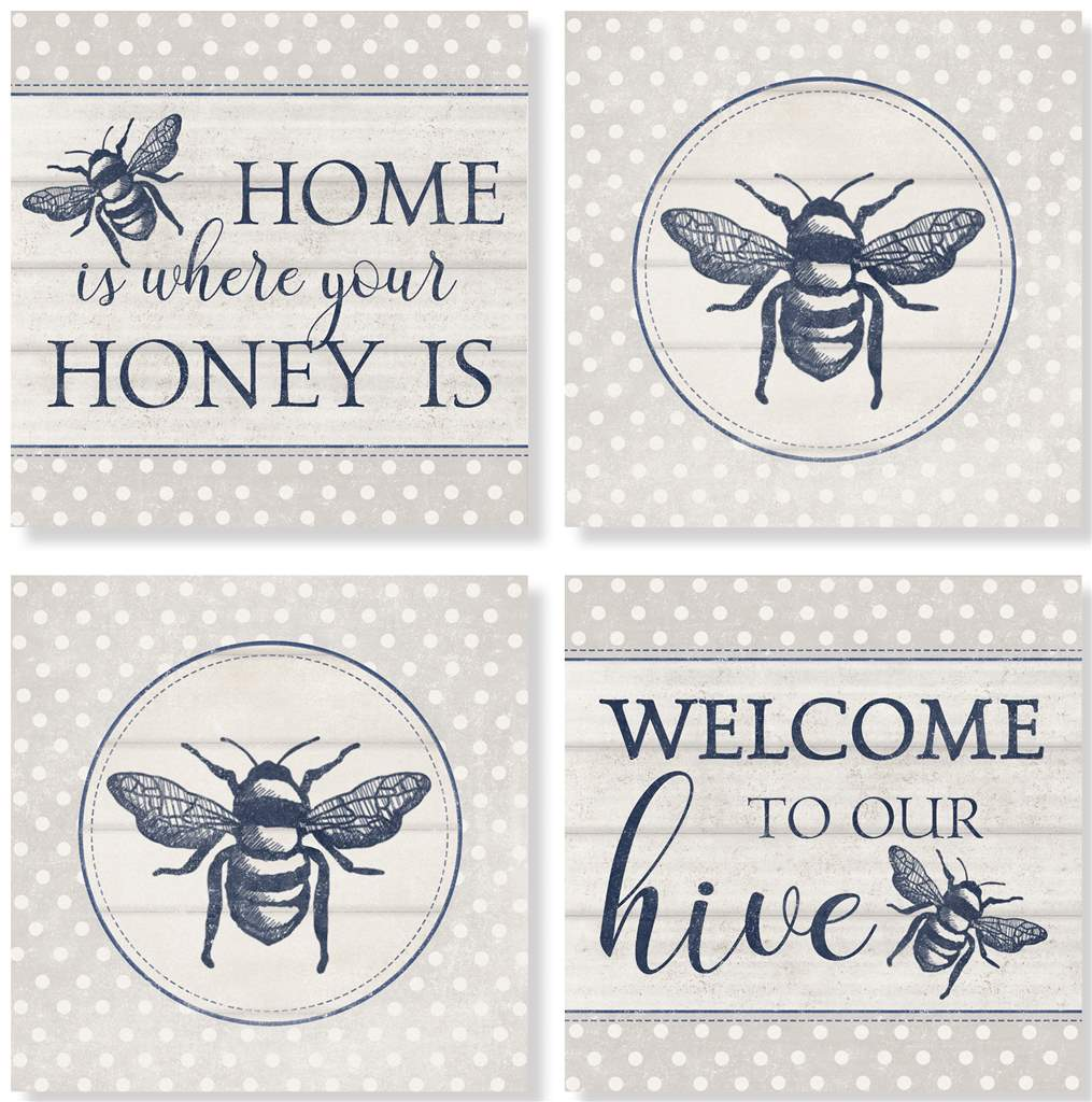 Vintage Bee Coaster Set