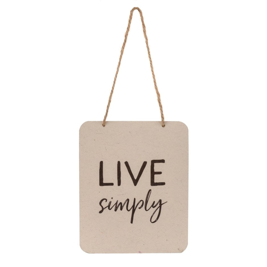 Live Simply Sign