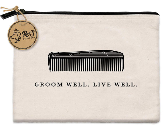 Groom Well Canvas Pouch