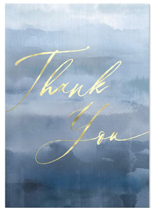 Blue Paint Thank You Cards