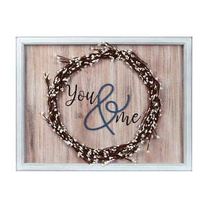 You & Me Wreath Wall Sign