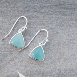 Elsie Earrings, Amazonite