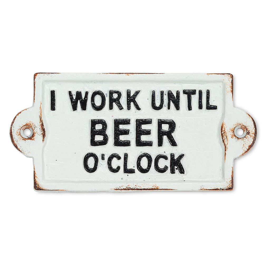 Beer O'clock sign