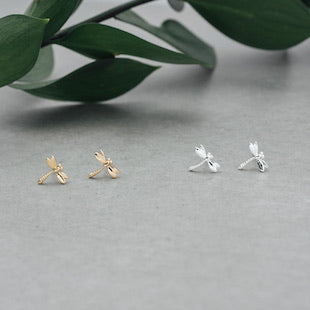 Dragonfly Studs Silver
