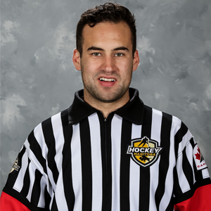 Hockey Manitoba referee Karlin Kreiger poses for a picture