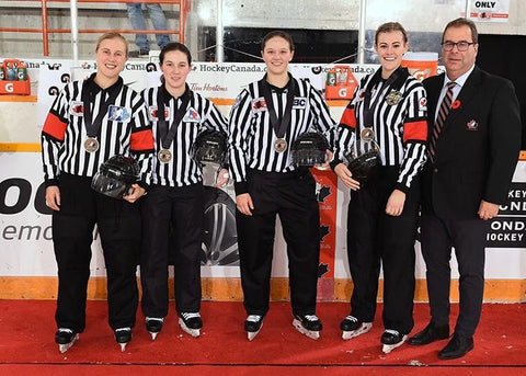 Referees and Linesmen that officiated the Gold Medal game at the National Women's Under-18 Hockey Championship