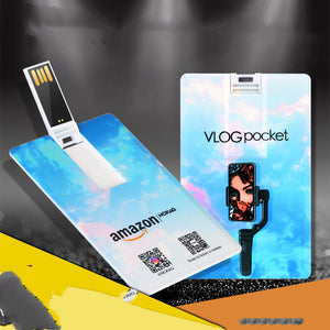 Customized Logo Advertisement on Card U Disk