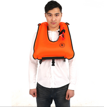 Load image into Gallery viewer, Buoyancy life jacket professional adult manual inflatable vest portable snorkeling swimming fishing equipment immersion suit