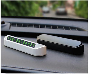 Car styling temporary parking card phone number card plate vehicle protective gear - shop416.com