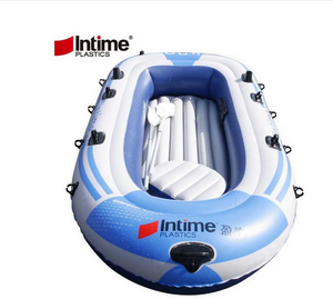 Outdoor water sports two inflatable kayak, raft boat