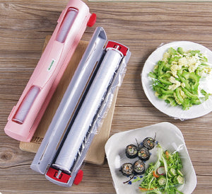 Cling film packaging machine Refillable Plastic Wrap Dispenser with Slide Cutter