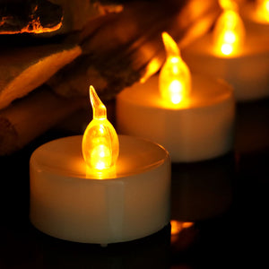 Electronic Candles Flickering LED Tea Light Battery Operate Bedside Night Lamp Flameless Party Lighting Decor