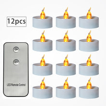 Load image into Gallery viewer, Electronic Candles Flickering LED Tea Light Battery Operate Bedside Night Lamp Flameless Party Lighting Decor