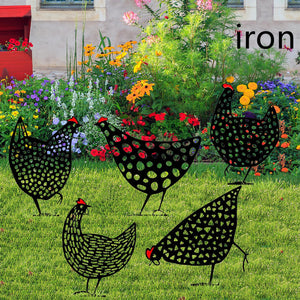 Chicken Yard Art Outdoor Garden Backyard Gazon Stakes Hen Yard Decor