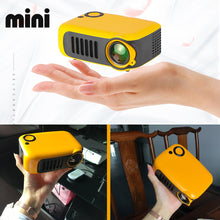 Load image into Gallery viewer, Mini Portable Projector 800 Lumens Eye-Care 1080p LCD 50,000 Hours Lamp Life Home Cinema Video Projector