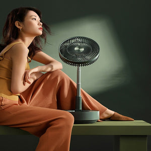 Storage Floor Electric Fan Household Desktop Remote Control Small Rechargeable Large Electric Fan