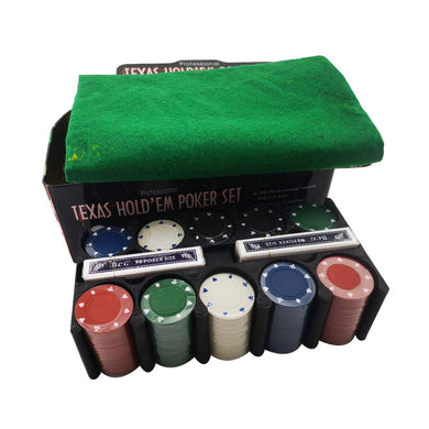 Texas Hold'em 200 pieces board Game Blackjack Poker full Set - shop416.com